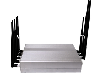 China 8 antenna VHF/UHF +3G mobile phone signla jammer/blocker supplier