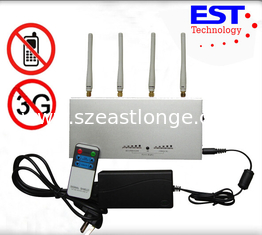 China Professional Auditoriums Cell Phone Signal Jammer With Jamming Range 15m supplier