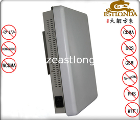 China Stainless Steel White Cell Phone Signal Scrambler Jamming Distance 1-30m Material supplier