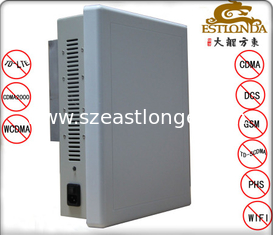 China Wireles Silver AC160V-240V Cell Phone Signal Jammer 40m For School supplier