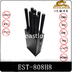 China 8 Antenna Handheld Metal Shell GPS Signal Jammer Block 2G / 3G / 4G / Wifi with Battery inside supplier