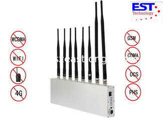 China Wifi Gps Cell Phone Signal Jammer For Examination Room / AC110V-240V supplier