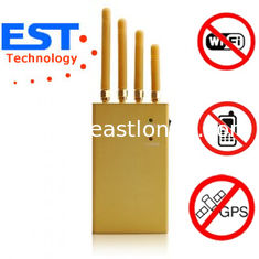 China EST-808KF GPS Cellphone Jammer Blocker 1500 - 1600MHZ Frequency , 4 Antenna supplier