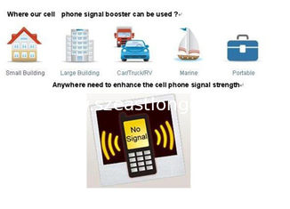 China Indoor Antenna GSM Signal Booster / Repeater / Amplifier For Mobile Phone supplier