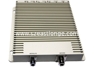China Tri - Band Mobile Phone Signal Repeater White Color With 200m² Coverage Area supplier