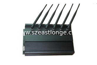 China WIFI 3G 2G 6 Antennas Cell Phone Signal Jammer with Cooling Fans supplier