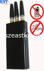 China EST-808KC GPS Signal Jammer + Mobile Phone Blocker With 3 Antenna , Black supplier