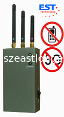 China CDMA / GSM Portable Cell Phone Jammer Blocker EST-808HC With 3 Antenna supplier