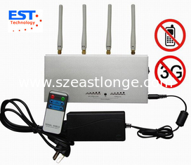 China 3G / GSM Desktop Remote Control Cellphone Jammer / Blocker EST-505A supplier