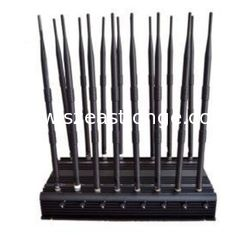 China 16 Antennas High Power Jammer CDMA GSM DCS PHS PCS 3G WCDMA 4G LTE supplier