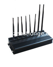 China 8 Band Multifunctional Cell Phone Signal Jammer , WIFI / 4G / 3G Mobile Phone Blocker supplier