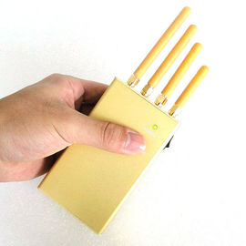 China 3.2 W Portable Cell Phone Jammer , 3G / GPS 4 Antenna Jammer Shield supplier