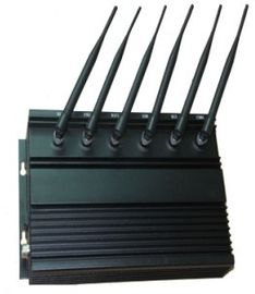 China 6 Antenna Cell Phone Signal Jammer , High Power Desktop Cell Phone WIFI Jammer supplier