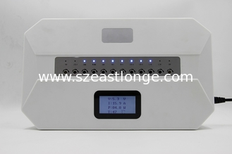 China 12 Bands IoT Software Control Cell Phone Wifi Signal Jammer Built In Antennas With LCD Screen supplier
