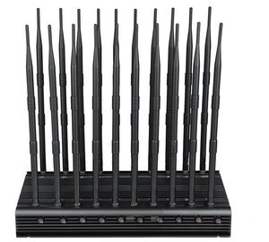 China EST-502F20 Cell Phone Signal Jammer 20 Bands WIFI GPS VHF UHF 315 433 868 Jammer supplier
