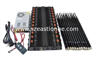 China 1 - 40m Jamming Range Cell Phone Signal Jammer EST-502F22 22 Bands 44W Total Output supplier