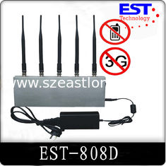 China 5 Antenna 33dBm Cell Phone Signal Jammer / Blocker EST-808D For Custom supplier