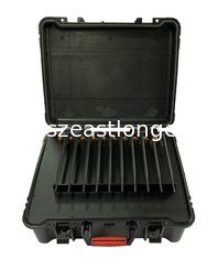 China Portable Suitcase 40m 2W 10 Channels 5G Signal Jammer supplier