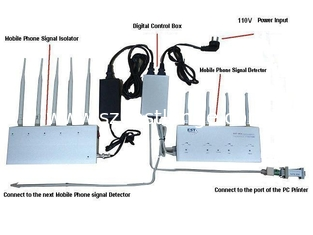 China EST-909 Cell Phone Signal Detector with Jammer , High Sensitivity supplier