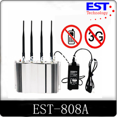 China 2G / 3G Cell Phone Signal Blocker Jammer High Frequency EST-808A supplier