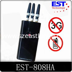China WIFI Portable Cell Phone Jammer / Mobile Signal Blocker With 3 Antennas supplier