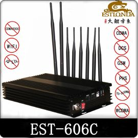 China 33dBm Cell Phone Signal Jammer / Scrambler Computer Remote Contro supplier