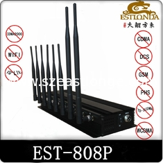 China 15W 4G WIFI Cell Phone Signal Jammer / Blocker Black For Auditoriums supplier