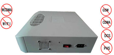 China Portable Cell Phone Jammer , 1-15M Built - In Wireless Signal Jammer factory