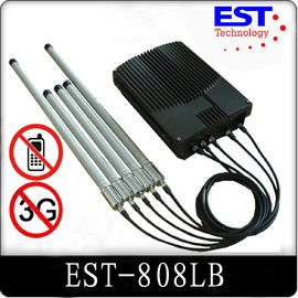 China 75W Prison High Power Cell Phone Signal Jammer / Blocker EST-808LB distributor