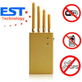 China EST-808KF GPS Cellphone Jammer Blocker 1500 - 1600MHZ Frequency , 4 Antenna distributor