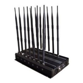 China 14 antenna high power adjustable Cell Phone Signal Jammer full coverage for all the signals factory