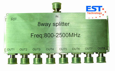China 8.5db 8 Way High Frequency Splitter 800-2500MHZ with N-female Connector factory