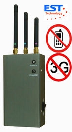 China CDMA / GSM Portable Cell Phone Jammer Blocker EST-808HC With 3 Antenna factory