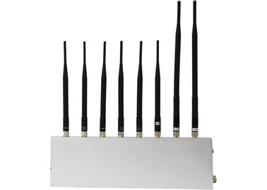 China Cell Phone Signal Jammer + GPS + WIFI + Walkie Talkie / Wireless Earphone (8 antennas) factory