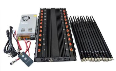 China 1 - 40m Jamming Range Cell Phone Signal Jammer EST-502F22 22 Bands 44W Total Output factory