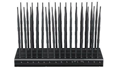 China 1-40m Adjustable Cell Phone Signal Jammer 30 Channels Indoor 12 Months Warranty factory
