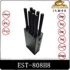 8 Antenna Handheld Metal Shell GPS Signal Jammer Block 2G / 3G / 4G / Wifi with Battery inside