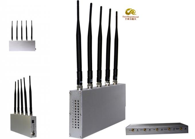 2G / 3G Desktop Cell Phone Signal Jammer 5 Antenna For Conference Room