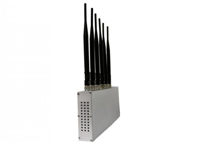 GPS / WIFI / 3G Cell Phone Signal Jammer / Blocker With 6 Antennas