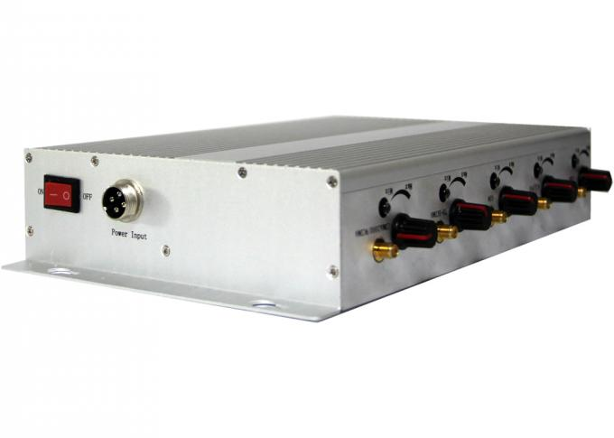 5 Antenna GSM 3G Remote Control Jammer 2100 - 2200MHZ for Military