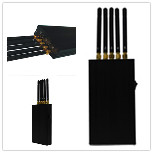 2200mhz 30dbm Cell Phone Signal Jammer For Schools With 5 Band , Portable