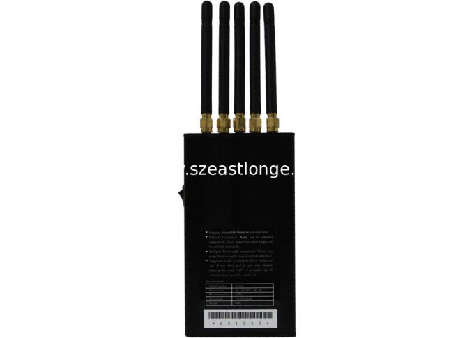 Black GPS Cell Phone Signal Jammer For Schools , 5 W CDMA / GSM Blocker