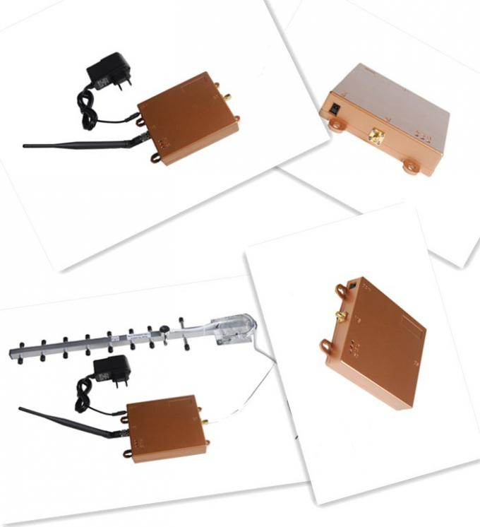 3G 2100MHz Micro Power Cell Phone Signal Repeater AGC / AGC , Golden