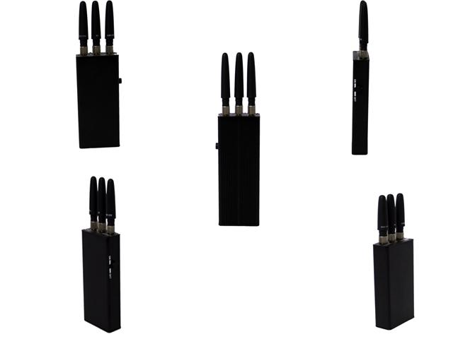 MINI GSM / 3G Handheld Cell Phone Jammer Blocker EST-808HB With 3 Antenna