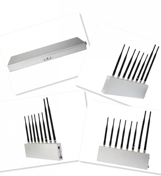 Indoor 808M UHF / VHF GPS Signal Jammer 8 Band with High Power
