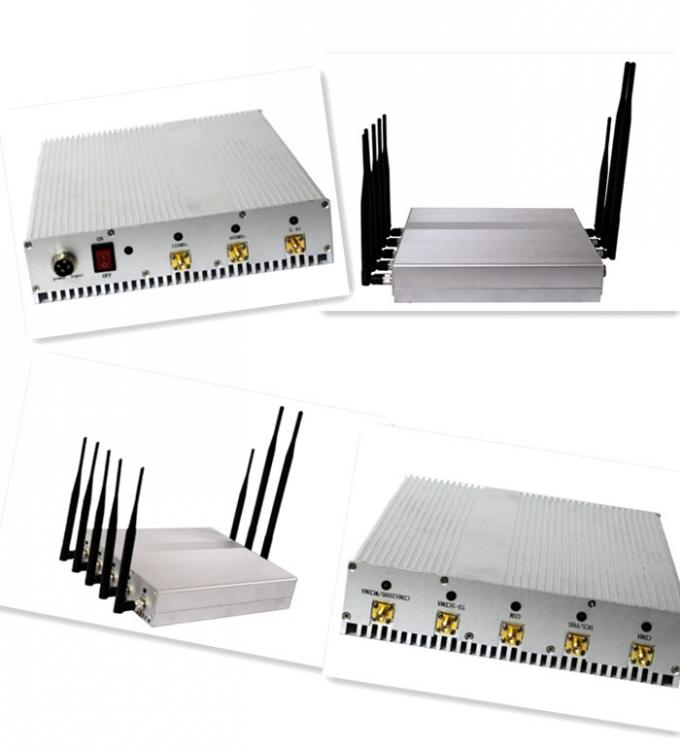 4G LTE / 3G / GSM Mobile Phone Remote Control Jammer / Blocker , 8 Antennas