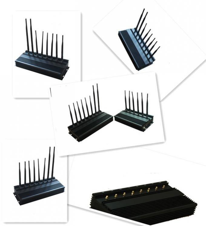 8 Band Multifunctional Cell Phone Signal Jammer , WIFI / 4G / 3G Mobile Phone Blocker