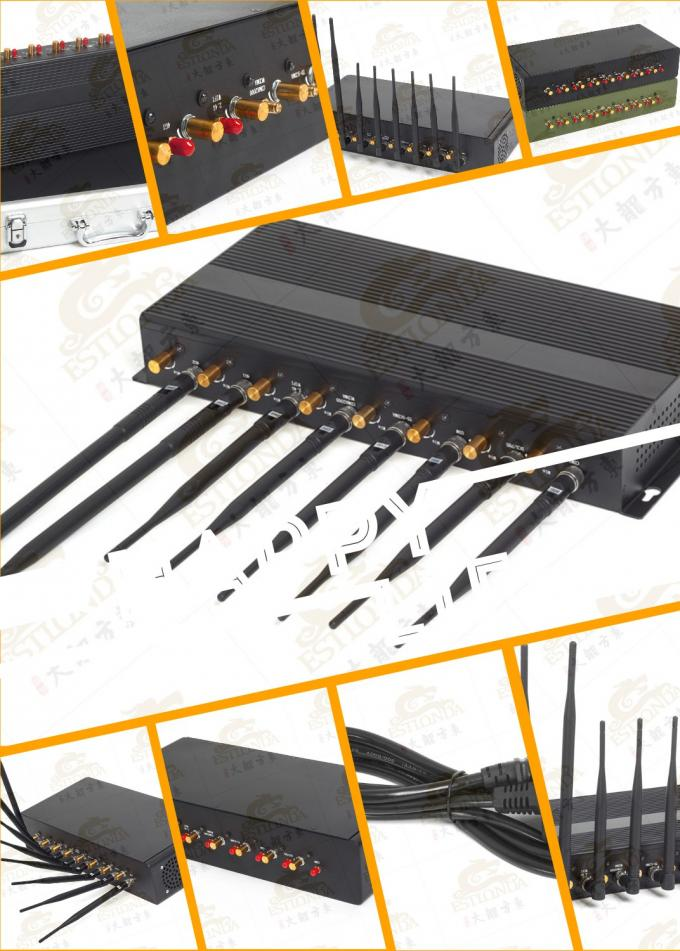 High Power cell phone scrambler , Power Source External Antenna Jammer
