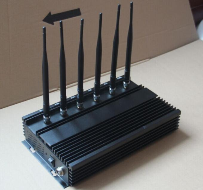 Cctv signal jammer - 6 Bands Cellular GPS Signal Jammer Power Adjustable AC110 - 250V Power Supply
