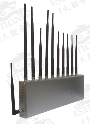 11 BandS Stainless Steel Silver Cell Phone Signal Jammer Blocking Mobile and WIFI / Earphone